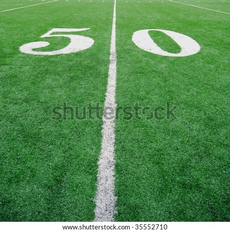 Best Seats in the house!  Right on the 50 yard line. - stock photo