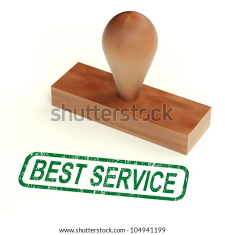 Best Service Rubber Stamp Showing Great Customer Assistance