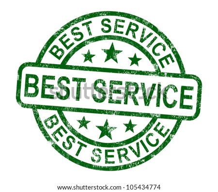 Best Service Stamp Showing Top Customer Assistance