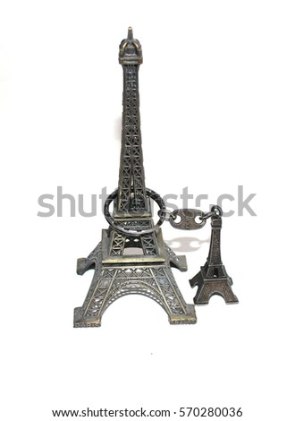 """Best souvenir from Paris and France - Eiffel towers. Two Eiffel towers in connection - isolated on white. eiffel tower eiffel tower """"eiffel tower"""" """"eiffel tower"""" """"eiffel tower"""" """"eiffel tower"""" #570280036"""