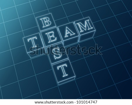 Best team glass crossword from boxes over blue