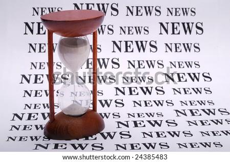 best top  latest news. hourglass timer running
