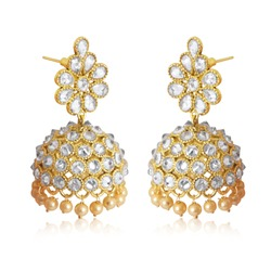 Best traditional gold-diamond earrings