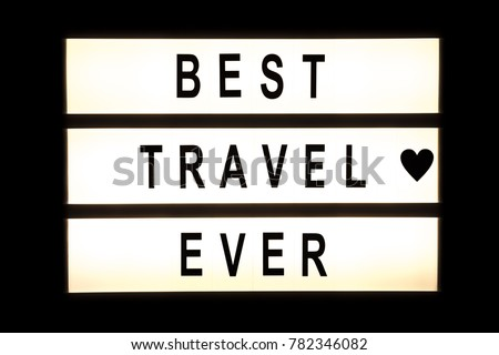 Best travel ever hanging light box sign board. #782346082