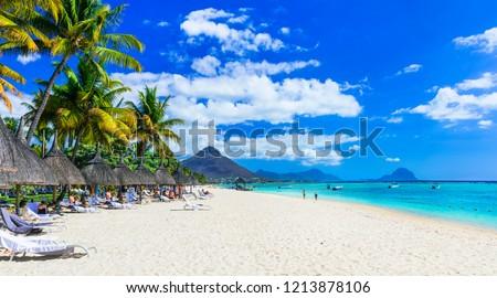 Best tropical beaches. Flic en Flac in Mauritius island