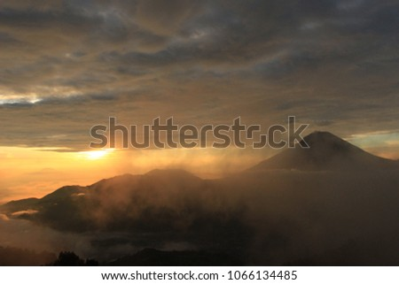 Best view sunrise on Dieng Mountain