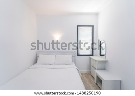 Best White Bedroom Stock Photos, Pictures