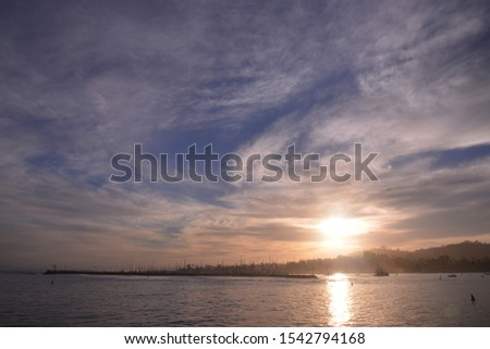 Besutiful Scenic view of Stearns Wharf, California, America