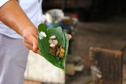 betel quid on a leaf