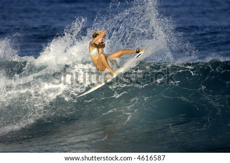 Bethany Hamilton surfing (for editorial use only)