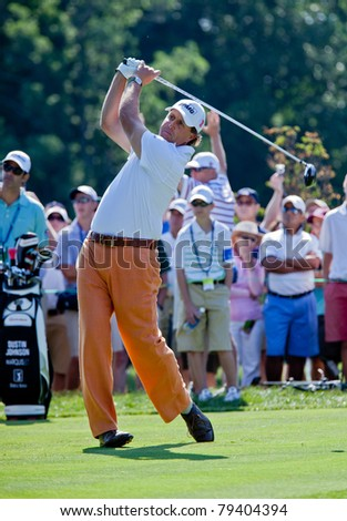 BETHESDA, MD - JUNE 14: Phil Mickelson hits a drive on Congressional during the 2011 US Open on June 14, 2011 in Bethesda, MD.