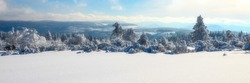 beutiful winter panorama in black forest germany