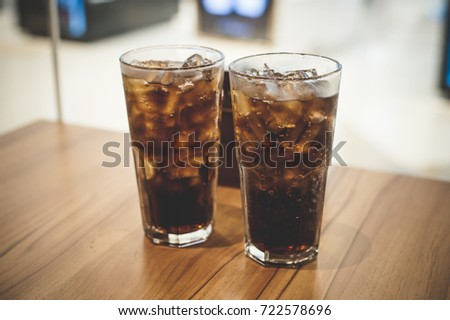 Beverage with ice