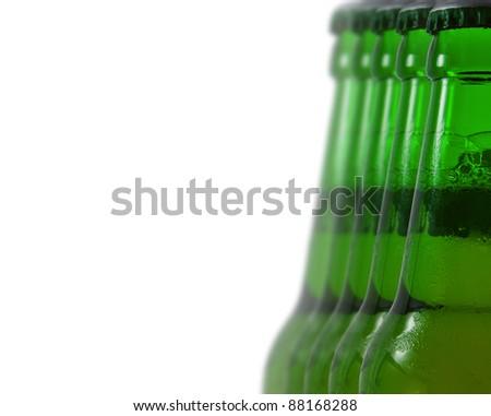 Beverages, green beer bottle