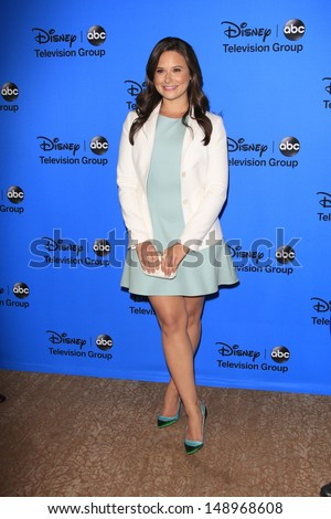 BEVERLY HILLS - AUG 4: Katie Lowes at the 2013 Television Critics Association's Summer Press Tour - Disney/ABC Party at The Beverly Hilton Hotel on August 4, 2013 in Beverly Hills, California - stock photo