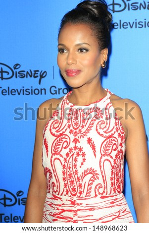 BEVERLY HILLS - AUG 4: Kerry Washington at the 2013 Television Critics Association's Summer Press Tour - Disney/ABC Party at The Beverly Hilton Hotel on August 4, 2013 in Beverly Hills, California