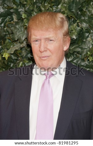 BEVERLY HILLS, CA - FEB 25: Donald Trump at the QVC Red Carpet Style Party at the Four Seasons Hotel in Beverly Hills, California on February 25, 2011