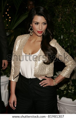 BEVERLY HILLS, CA - FEB 25: Kim Kardashian at the QVC Red Carpet Style Party at the Four Seasons Hotel in Beverly Hills, California on February 25, 2011