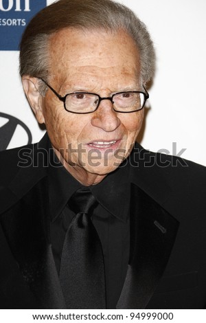 BEVERLY HILLS, CA - FEB 11: Larry King at the Clive Davis and the Recording Academy's 2012 Pre-GRAMMY Gala on February 11, 2012 in Beverly Hills, California - stock photo