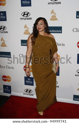 BEVERLY HILLS, CA - FEB 11: Melanie Amaro at the Clive Davis and the Recording Academy's 2012 Pre-GRAMMY Gala on February 11, 2012 in Beverly Hills, California