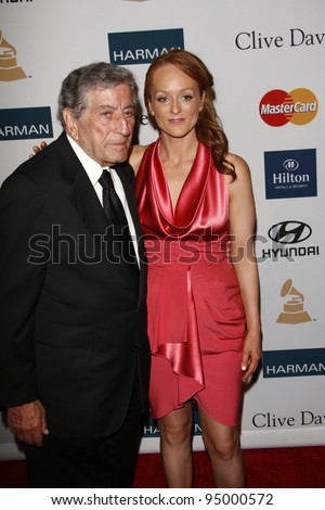 BEVERLY HILLS, CA - FEB 11: Tony Bennett; Antonia Bennett at the Clive Davis and the Recording Academy's 2012 Pre-GRAMMY Gala on February 11, 2012 in Beverly Hills, California