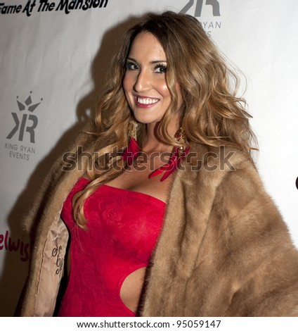 BEVERLY HILLS, CA - FEBRUARY 12: Bikini Girl Katrina Darrell attends the Grammy after party at the Playboy Mansion on February 12, 2012 in Beverly Hills, California. (Photo by Jonathan S. Nowak)