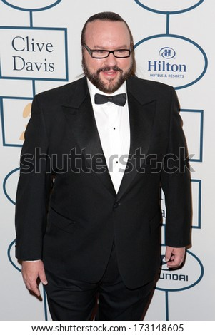 BEVERLY HILLS, CA. - JANUARY 25: Desmond Child arrives at the Clive Davis and The Recording Academy annual Pre-GRAMMY Gala on January 25th 2014 at the Beverly Hilton in Beverly Hills, California.