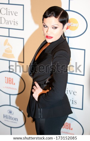 BEVERLY HILLS, CA. - JANUARY 25: Jessie J arrives at the Clive Davis and The Recording Academy annual Pre-GRAMMY Gala on January 25th 2014 at the Beverly Hilton in Beverly Hills, California.