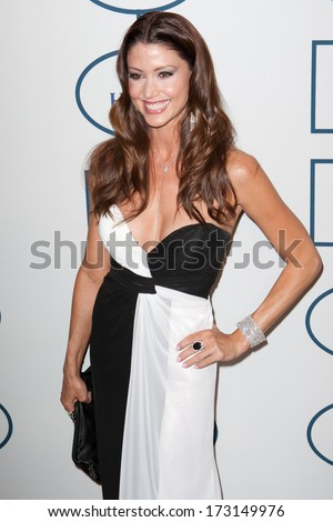 BEVERLY HILLS, CA. - JANUARY 25: Shannon Elizabeth arrives at the Clive Davis and The Recording Academy annual Pre-GRAMMY Gala on January 25th 2014 at the Beverly Hilton in Beverly Hills, California.