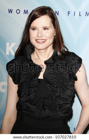 BEVERLY HILLS, CA - JUNE 16: Geena Davis at the 2011 Women In Film Crystal + Lucy Awards at the Beverly Hilton Hotel in Beverly Hills, California on June 16, 2011.