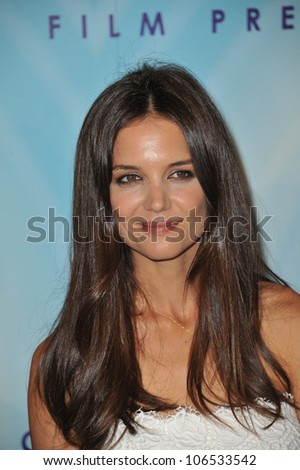 BEVERLY HILLS, CA - JUNE 16, 2011: Katie Holmes at the Women in Film 2011 Crystal + Lucy Awards at the Beverly Hilton Hotel. June 16, 2011  Beverly Hills, CA