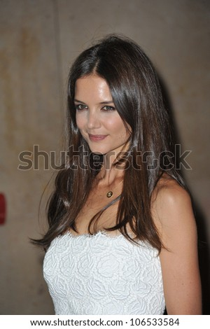 BEVERLY HILLS, CA - JUNE 16, 2011: Katie Holmes at the Women in Film 2011 Crystal + Lucy Awards at the Beverly Hilton Hotel. June 16, 2011  Beverly Hills, CA - stock photo