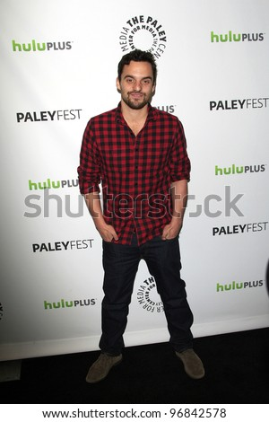 BEVERLY HILLS, CA - MARCH 5: Jake Johnson at The Paley Center For Media's PaleyFest 2012 honoring 'New Girl' at the Saban Theater on March 5, 2012 in Beverly Hills, California