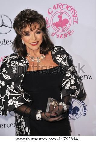 BEVERLY HILLS, CA - OCTOBER 20, 2012: Joan Collins at the 26th Carousel of Hope Gala at the Beverly Hilton Hotel.