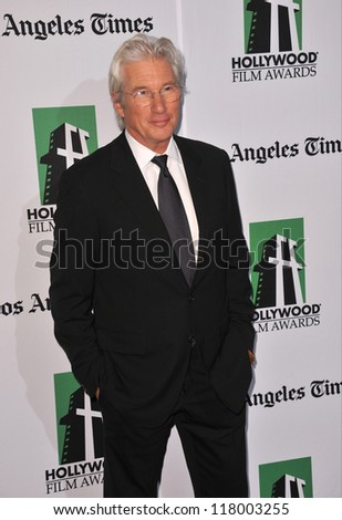 BEVERLY HILLS, CA - OCTOBER 22, 2012: Richard Gere at the 16th Annual Hollywood Film Awards at the Beverly Hilton Hotel.