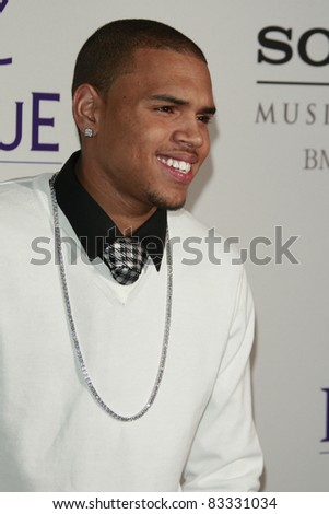BEVERLY HILLS - FEB 9: Chris Brown at the Clive Davis Pre-GRAMMY Party 2008 held at the Beverly Hilton Hotel in Beverly Hills, California on February 9, 2008