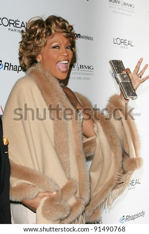 BEVERLY HILLS - FEB 10: Whitney Houston at the 2007 Clive Davis Pre-Grammy party held at the Beverly Hilton Hotel in Los Angeles, California on February 10, 2007
