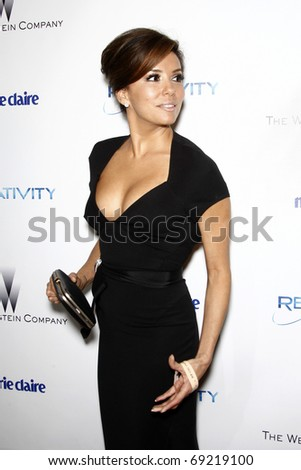 BEVERLY HILLS - JAN 16: Eva Longoria arrives at The Weinstein Company And Relativity Media's 2011 Golden Globe Awards Party at Beverly Hilton Hotel on January 16, 2011 in Beverly Hills, CA