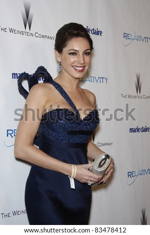 BEVERLY HILLS - JAN 16: Kelly Brook at The Weinstein Company And Relativity Media\'s 2011 Golden Globe Awards Party in Beverly Hills, California on January 16, 2011