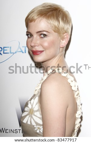 BEVERLY HILLS - JAN 16: Michelle Williams at The Weinstein Company And Relativity Media's 2011 Golden Globe Awards Party in Beverly Hills, California on January 16, 2011