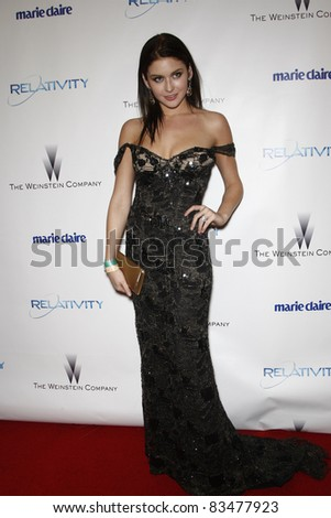BEVERLY HILLS - JAN 16: Renee Olstead at The Weinstein Company And Relativity Media\'s 2011 Golden Globe Awards Party in Beverly Hills, California on January 16, 2011