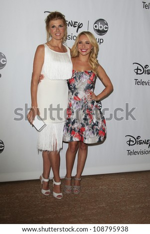 BEVERLY HILLS - JUL 27: Connie Britton, Hayden Panettiere at the 2012 Disney and ABC TCA Summer Press Tour at the Beverly Hilton Hotel on July 27, 2012 in Beverly Hills, California
