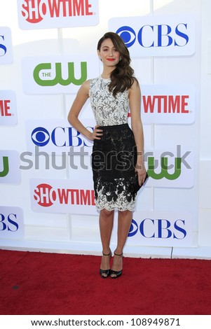 BEVERLY HILLS - JUL 29: Emmy Rossum at the 2012 TCA CBS, Showtime and The CW Summer Press Tour party on July 29, 2012 in Beverly Hills, California