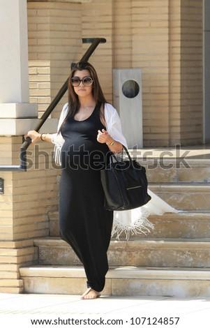 BEVERLY HILLS - JUL 5: Kourtney Kardashian out shopping on July 5, 2012 in Beverly Hills , California