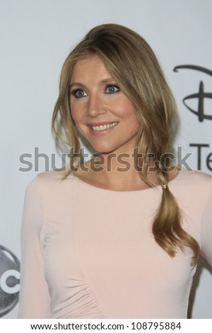BEVERLY HILLS - JUL 27: Sarah Chalke at the 2012 Disney and ABC TCA Summer Press Tour at the Beverly Hilton Hotel on July 27, 2012 in Beverly Hills, California - stock photo