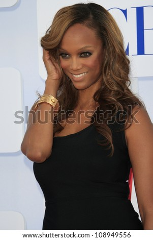 BEVERLY HILLS - JUL 29: Tyra Banks at the 2012 TCA CBS, Showtime and The CW Summer Press Tour party on July 29, 2012 in Beverly Hills, California - stock photo