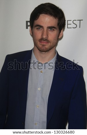 "BEVERLY HILLS - MAR 3:  Colin O'Donoghue at the ""Once Upon A Time"" PaleyFEST Event at the Saban Theater on March 3, 2013 in Beverly Hills, California"