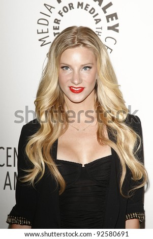BEVERLY HILLS - MAR 16:  Heather Morris arriving at the 2011 PaleyFest honoring 'Glee' held at the Saban Theater in Beverly Hills on March 16, 2010.