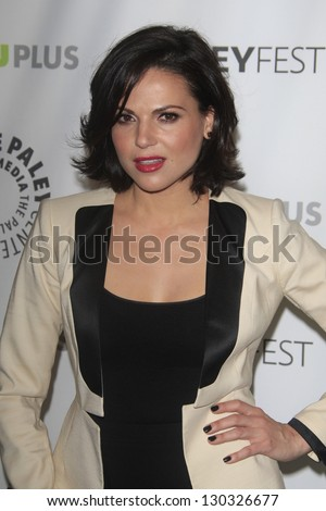 "BEVERLY HILLS - MAR 3:  Lana Parrilla at the ""Once Upon A Time"" PaleyFEST Event at the Saban Theater on March 3, 2013 in Beverly Hills, California"