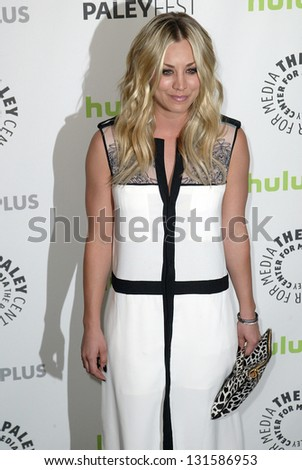 BEVERLY HILLS - MARCH 13: Kaley Cuoco arrives at the 2013 Paleyfest \
